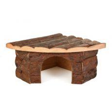 Sarok faház rágcsálók számára - 22x15x10,5cm