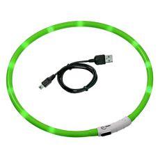 Villogó LED kutyus nyakörv - 45 cm zöld