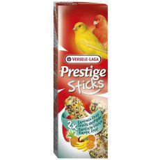 Rudacskák kanáriknak Prestige Sticks 2db - exotikus gyümölcs, 60g