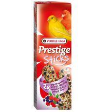 Rudacskák kanáriknak Prestige Sticks 2db - erdei gyümölcsök, 60g