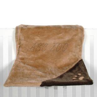 Fűtőtest ágy macskáknak, barna plüss - 45x24x31