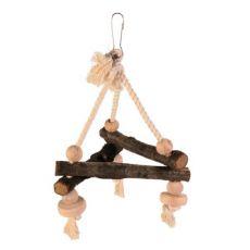 Madárjáték - hinta kötélen - 16x16x16 cm