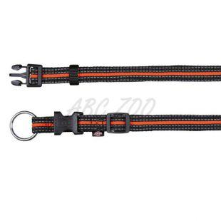 Nylon nyakörv kutyáknak - fekete narancs, S-M