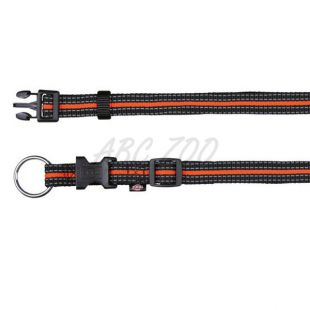 Nylon nyakörv kutyáknak - fekete narancssárga, M-L