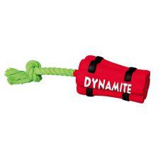 Latex kutya játékszer - dinamit kötéllel , 22cm