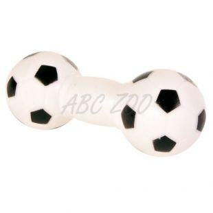 Játék kutyáknak - focilabda súlyzó, 14cm