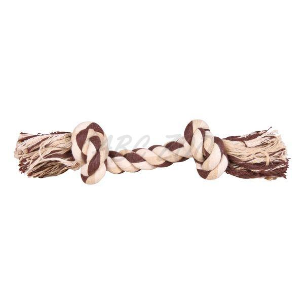 57c7d3ec48a6 ... Bavlnené lanko s uzlami na hranie pre psa - 28cm
