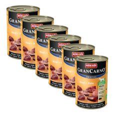 GranCarno Fleisch Adult marhahús pulykahússal -  6 x 400 g