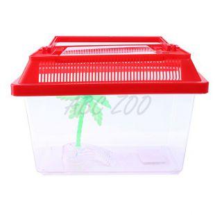 Műanyag akvárium pálmafával - 18x11x11cm