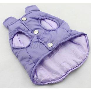 Kutyamellény - steppelt lila színű,  L
