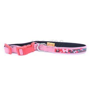 Nyakörv kutyáknak csont motívummal, rózsaszín - 1,2 x 30cm