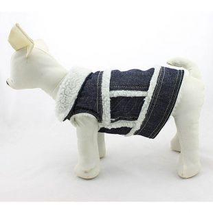 Farmer mellény kutyáknak - fehér szőrme, XL