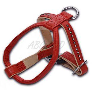 Kutyahám strasszokkal, piros - 1,5x25x30cm