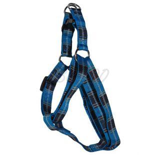 Hám kutyáknak - kék kockás  S 1,6 x 30-45 cm