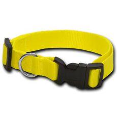 Nyakörv kutyáknak neon sárga - 1,6 x 25-39 cm