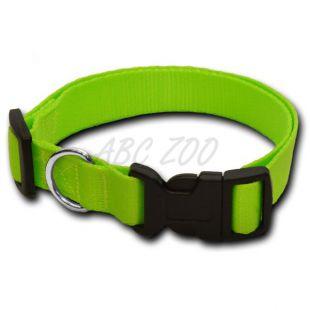 Nyakörv kutyáknak neon zöld - 1,6 x 25-39 cm