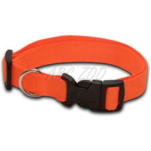 Nyakörv kutyáknak neon narancssárga - 1 x 20-32 cm