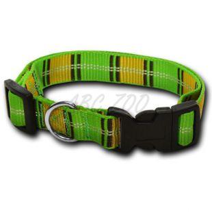 Nylon kutyanyakörv - kockás zöldessárga 1,6 x 20-32 cm