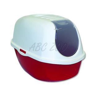 Macska toalett fedéllel MAGIC CAT, piros - 39x53x41cm