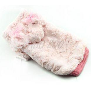 Kutyapulóver kapucnival és fülekkel, rózsaszín - XXL