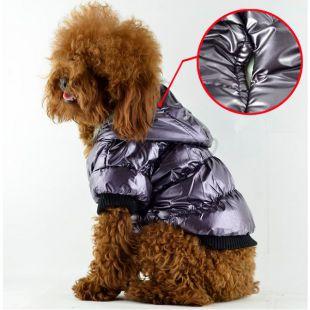 Viharkabát kutyáknak - tollas, lila, S