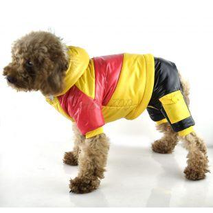 Kutyakabát - sárga-rózsaszín, XL
