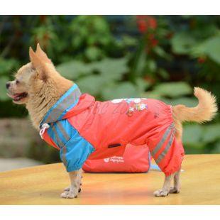 Esőkabát kutyáknak lány mintával - rózsaszín, XS