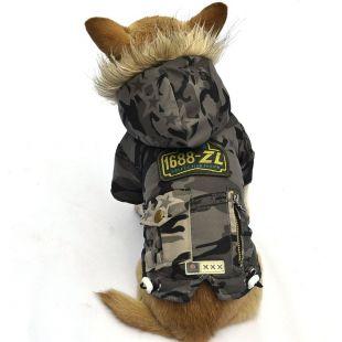 Kutyakabát - katonazöld, XS