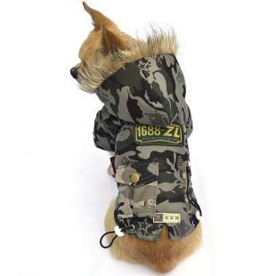 Kutyakabát - zöld, XL