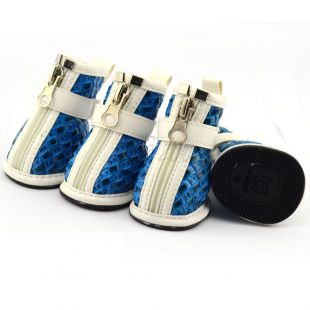 Kutyacipő - fonott minta - kék, M