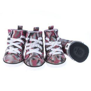 Kutyacipő - terepmintás piros, XL