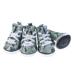 Kutyacipő - terepmintás zöld, XL