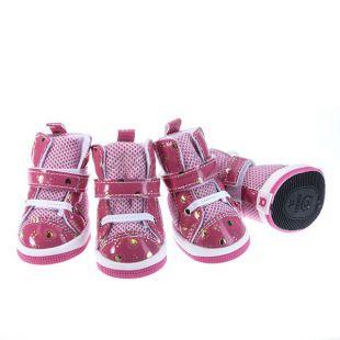 Kutyacipő - piros rózsaszín, S