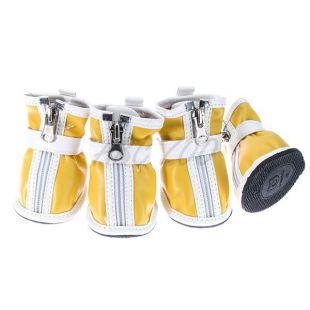 Kutyacipő - tépőzáras - sárga, L