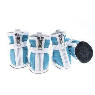 Kutyacipő - tépőzáras - kék, XL