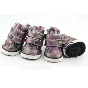 Sportcipő kutyáknak - terepmintás - rózsaszín, M