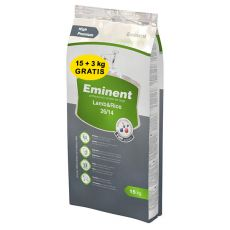 EMINENT Lamb and Rice, 15kg + 3kg INGYEN