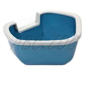 Sarok toalett macskáknak DAMA - kék - 57,5 x 51,5 x 22 cm