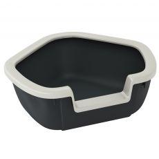 Sarok toalett macskáknak DAMA - fekete - 57,5 x 51,5 x 22 cm
