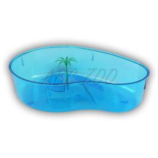 Teknős terrárium pálmával - kék