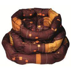 Kutyafekhely - ovális, barna, 55x45x20 cm