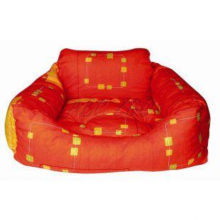 Kutyafekhely - téglalap alakú, narancssárga, 75x60x23 cm