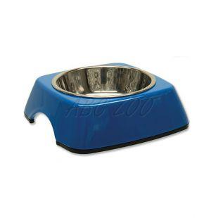 Kutyatál DOG FANTASY, négyzet alakú tálkatartóval - 0,16L, kék