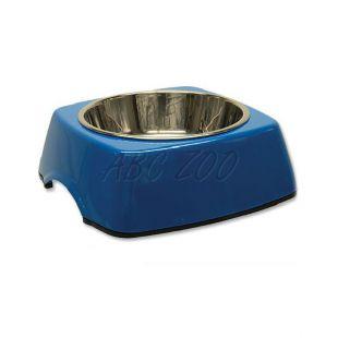 Kutyatál DOG FANTASY, négyzet alakú tálkatartóval - 0,35L, kék