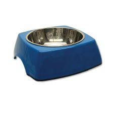 Kutyatál DOG FANTASY, négyzet alakú tálkatartóval - 0,70L, kék