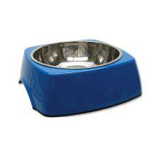 Kutyatál DOG FANTASY, négyzet alakú tálkatartóval - 1,40L, kék