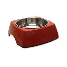 Kutyatál DOG FANTASY, négyzet alakú tálkatartóval - 0,70L,piros