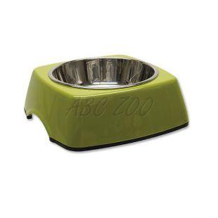 Kutyatál DOG FANTASY, négyzet alakú tálkatartóval - 0,35L, zöld