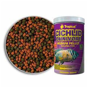 TROPICAL Cichlid Omnivore Medium Pellet 1000ml/360g