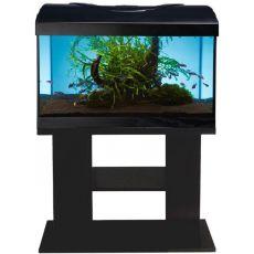 Akvárium komplett DIVERSA 54l - ovális + BUDGET fekete állvány